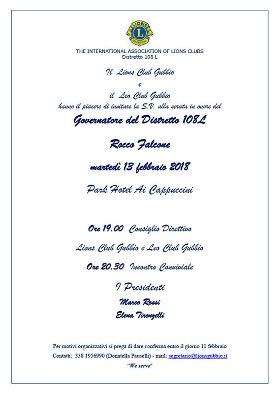 Visita Governatore Rocco Falcone 2018