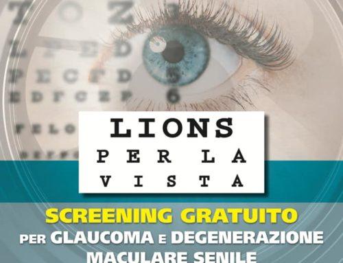LIONS per la VISTA: screening glaucoma e degenerazione maculare senile