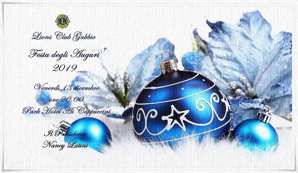 FESTA DEGLI AUGURI Venerdì 13 dicembre 2019 Park Hotel Ai Cappuccini