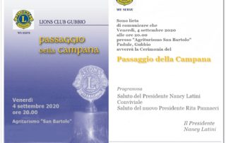 PASSAGGIO della CAMPANA 2020-2021