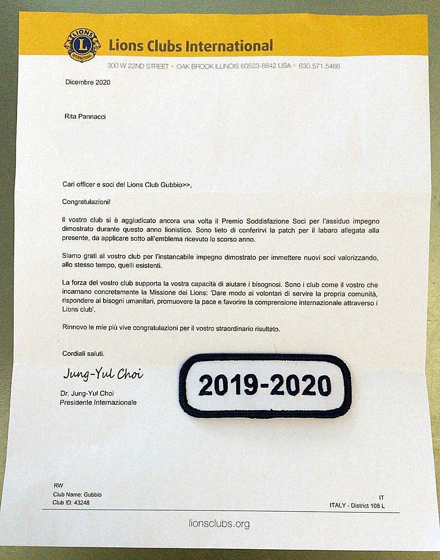 PREMIO SODDISFAZIONE SOCI a.l. 2019-2020